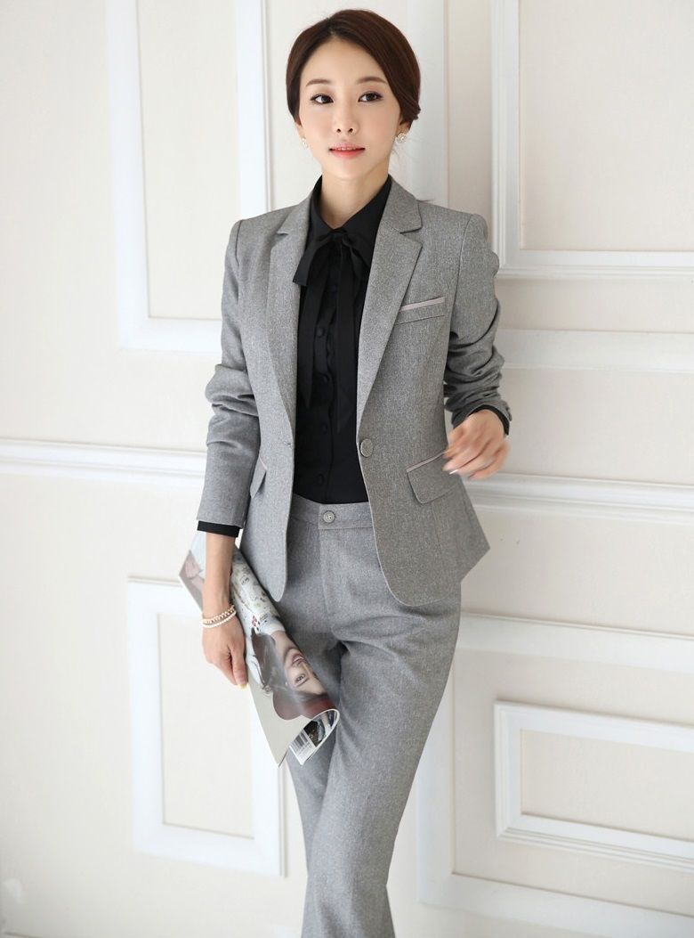 a6485cf5e21 Plus Size 4XL Formal Uniform Style Female Pantsuits Ladies Office Professional  Business Women Blazers And Pants