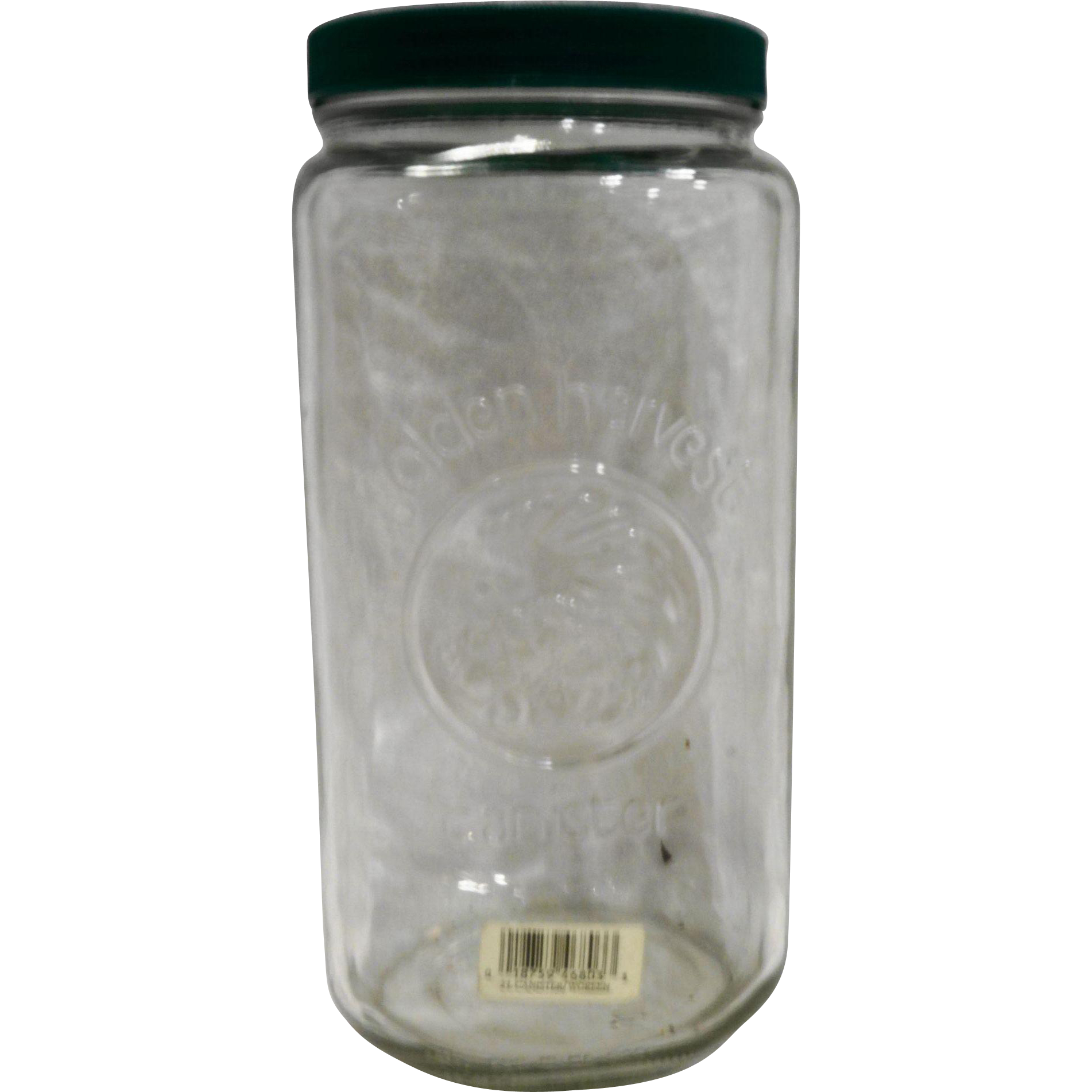 golden harvest clear glass canister 2l tall green lid glass golden harvest clear glass canister 2l tall green lid