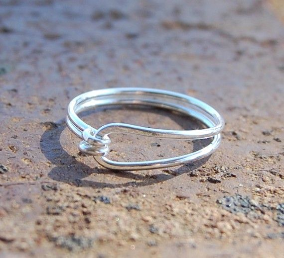 Sterling. Silber. Einfach. Ring | Sterlingsilber, Drahtringe und ...