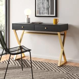 Modern Contemporary Skinny Desk Allmodern In 2020 Desks For Small Spaces Furniture Office Furniture Modern