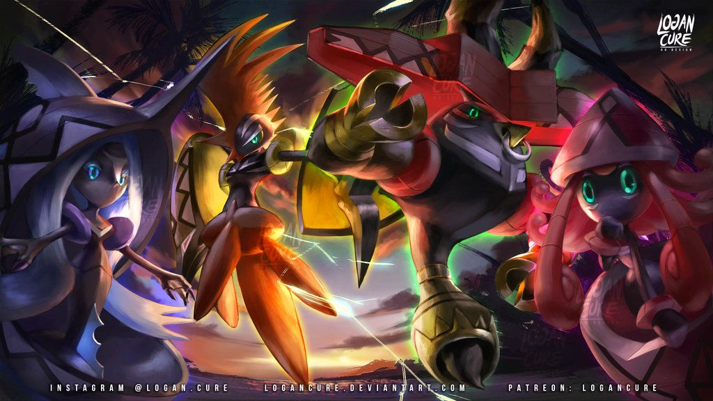 Guardians Of The Alola Islands Tapu Fini Tapu Koko Tapu Bulu And Tapu Lele Pokemon Pokemon Art Pokemon Sun