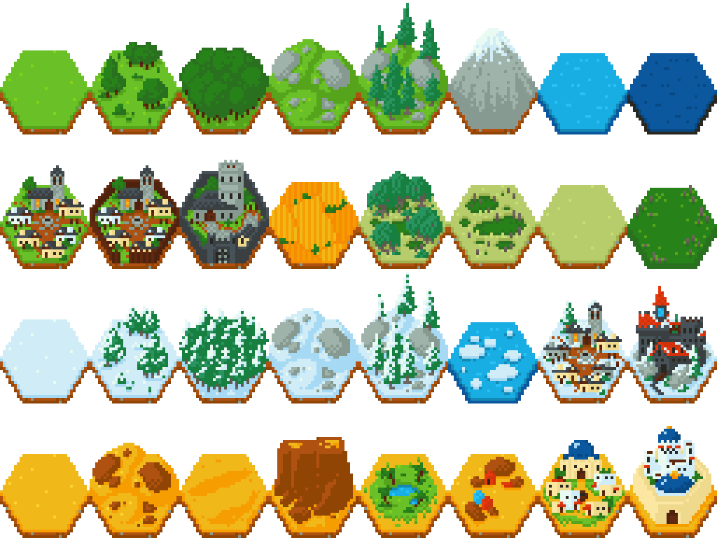 Fantasy Hex Tiles by CuddlyColin | Black Fog Game Concepts in 2019