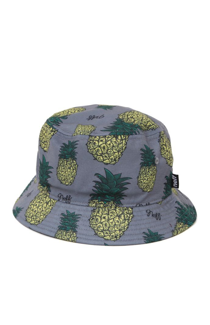 Neff offers a slice of the sweet life with this bucket hat found at PacSun.  The Pineapple Bucket Hat offers a two tone print allover with Neff scripts  mixed ... 91cc5fe5672