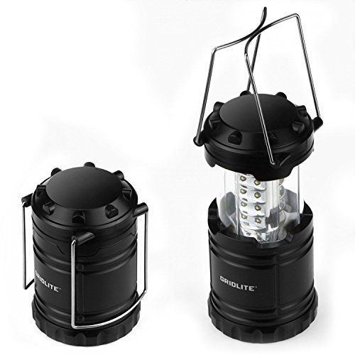 Etekcity CL10 Portable LED Camping Lantern Flashlight with 3 AA Batteries-Survival Light for Emergency Hurricane Outage Black, Collapsible