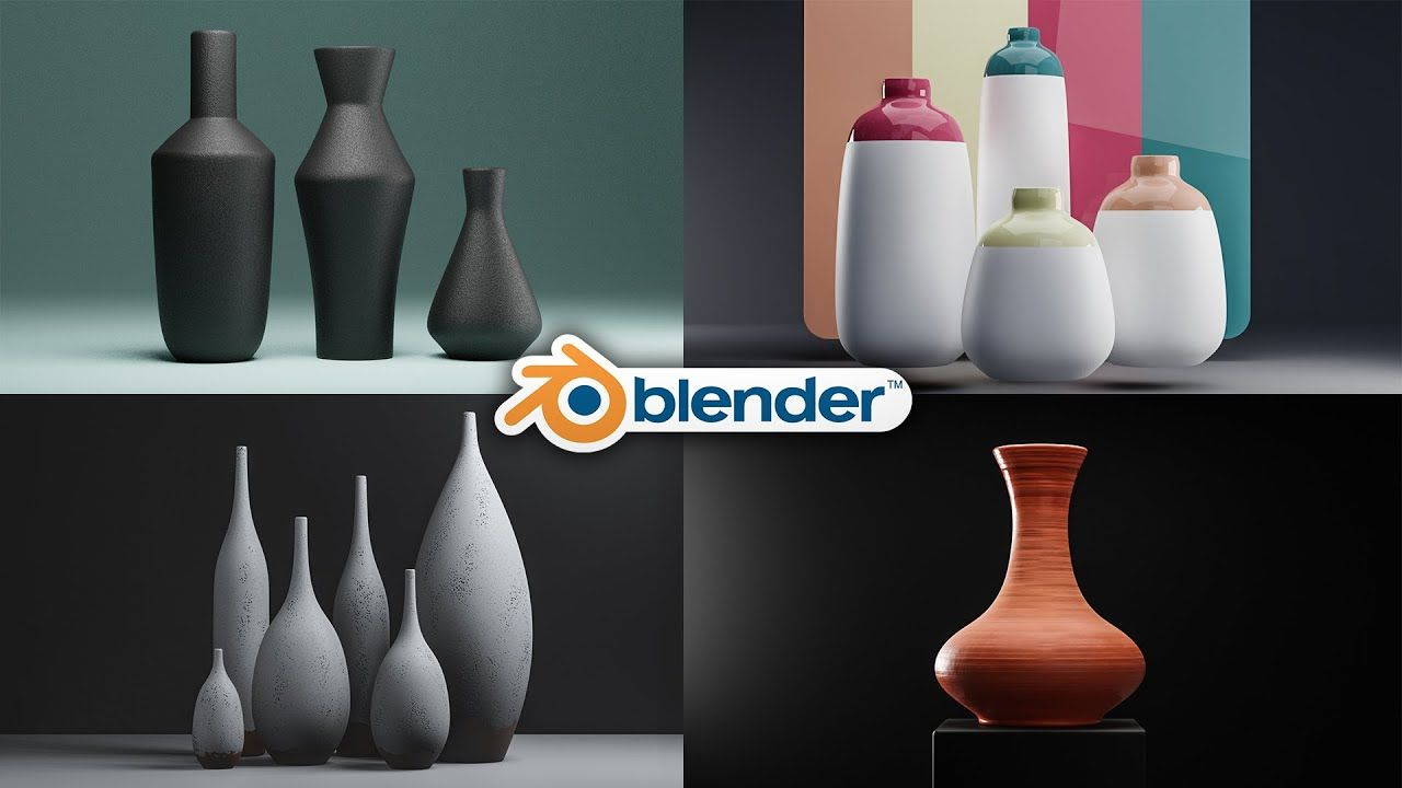 Blender 3D Bottle Design 100