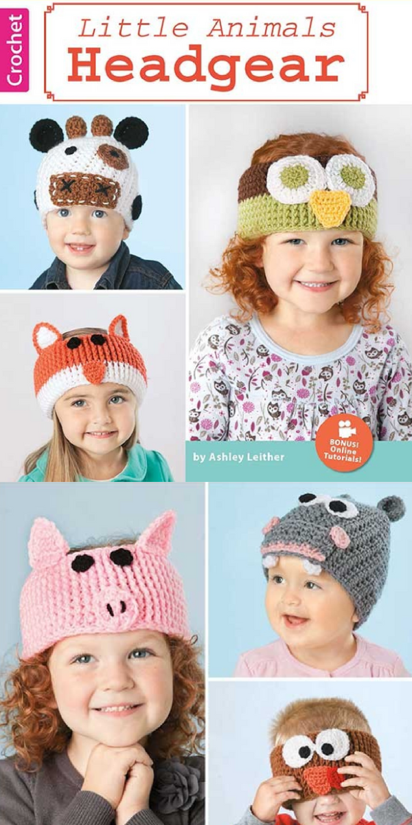 Crochet Patterns For Babies And Kids Animal Beanies Beanie