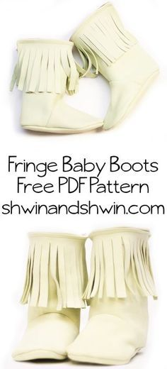 Fringe Baby Boots || Free PDF Pattern | Shwin&Shwin | Bloglovin'