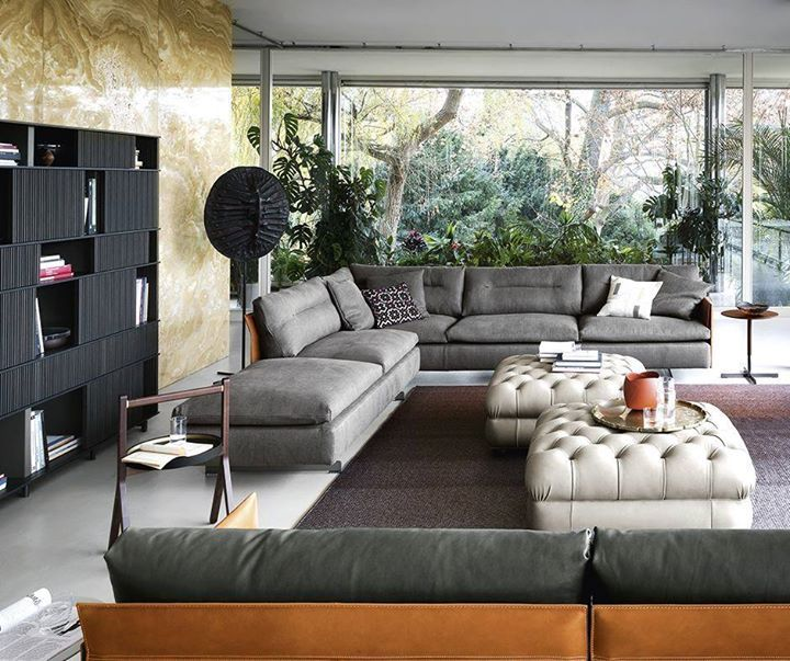Poltrona Frau Pfbestmoments A Modular Sofa That Combines Saddle Extra Leather With Pelle Fra Contemporary Designers Furniture Luxury Furniture Stores Luxury Furniture Furniture