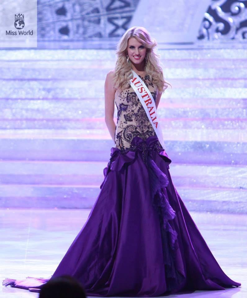 28 Stunning Dresses From Miss World 2013 Miss Australia | miss world ...