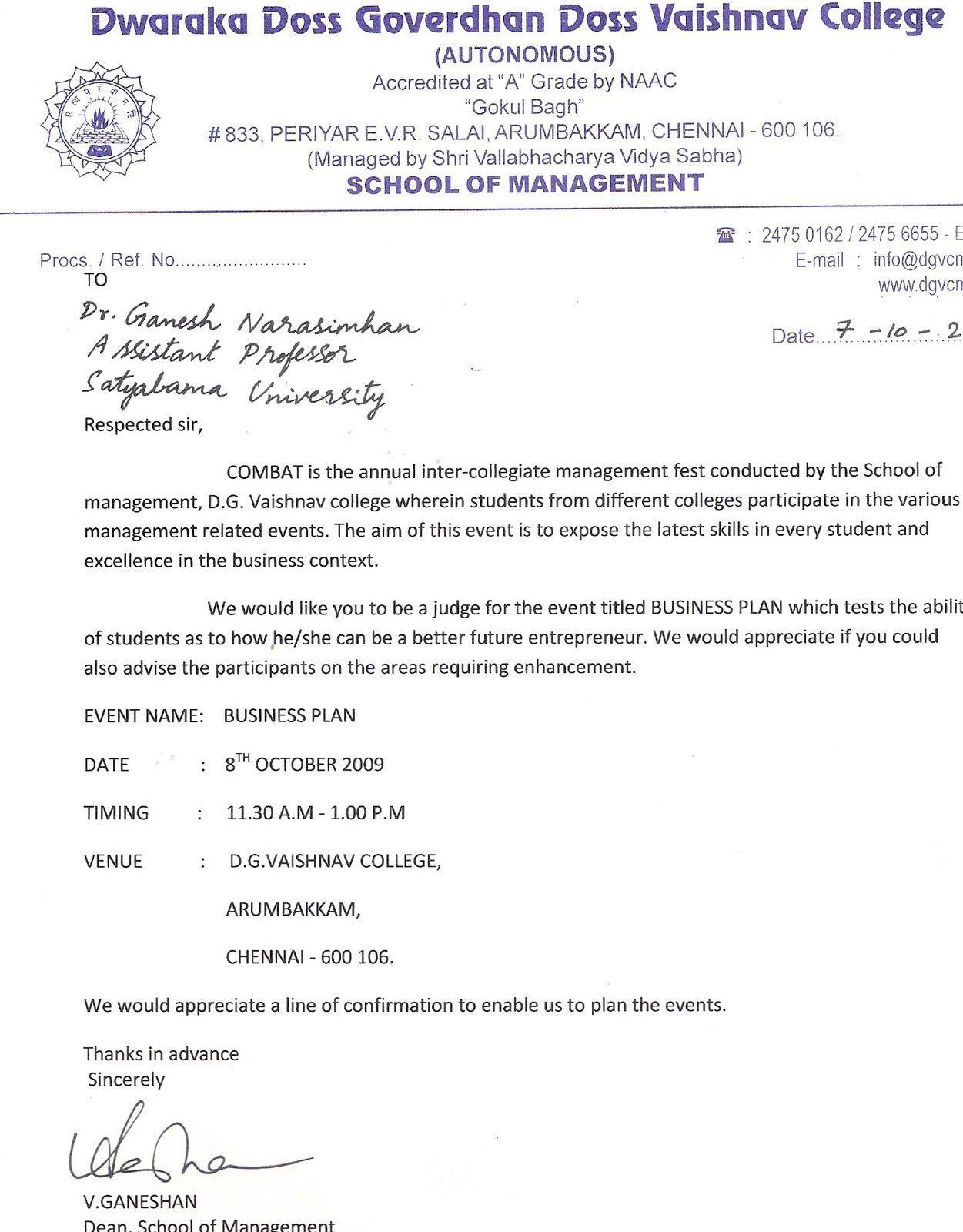 invitation letter for event judge