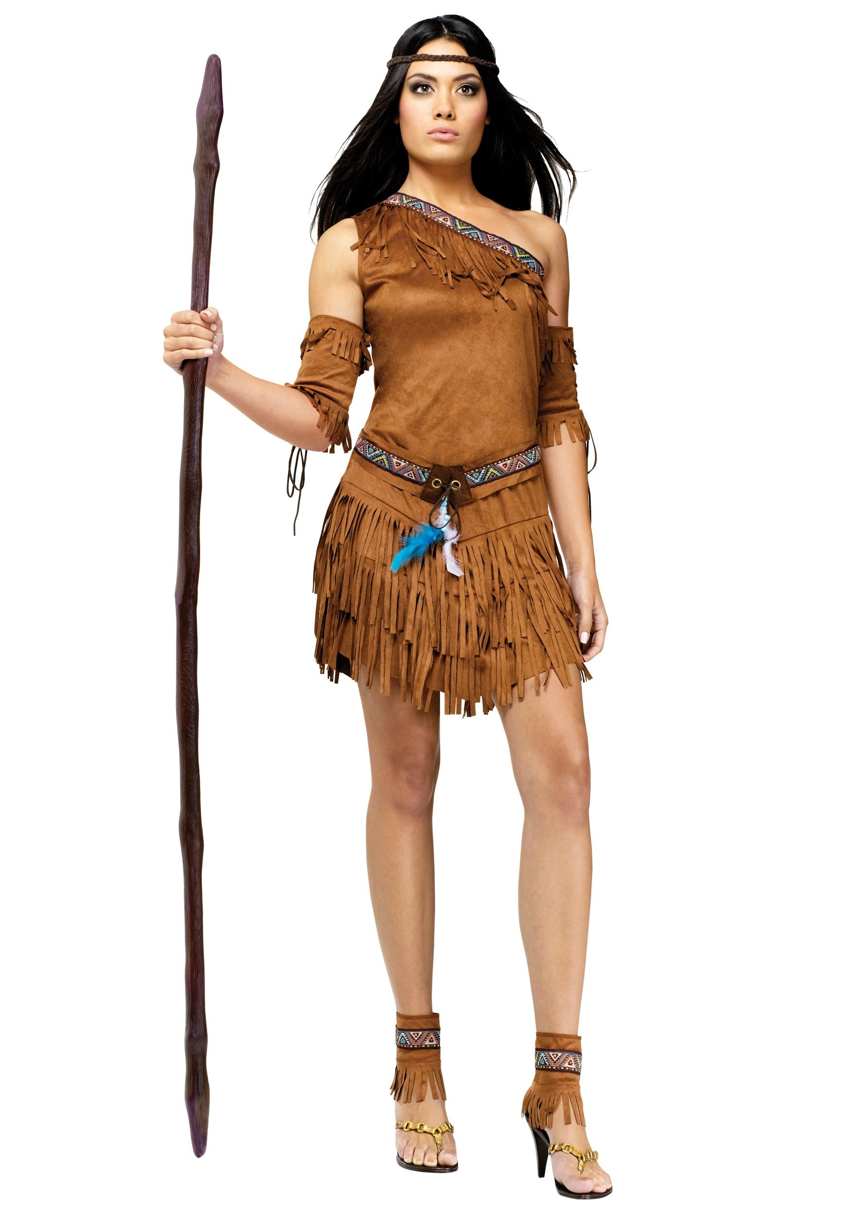 Pow Wow Indian Ladies Costume   Indian costumes, Saloon girls and ...