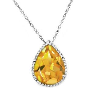 Jared Citrine Necklace Sterling Silver Jewelry I love