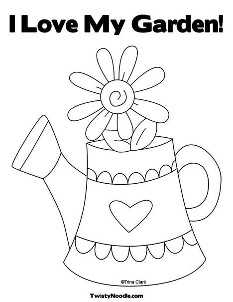 Coloring pages watering can