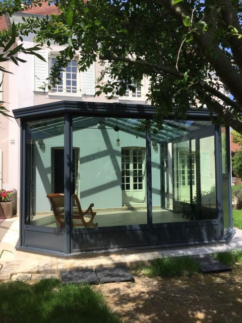 Véranda de 25m² Aluminium - parfaite intégration au style de la - store exterieur veranda prix