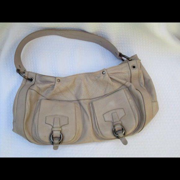 Puntotres Brown Sandy Tan Leather Handbag