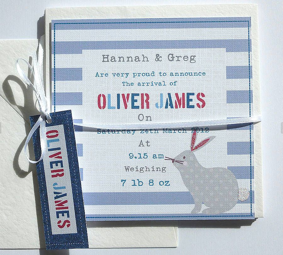 Boys Personalised Birth Announcement Cards Birth, Baby cards and