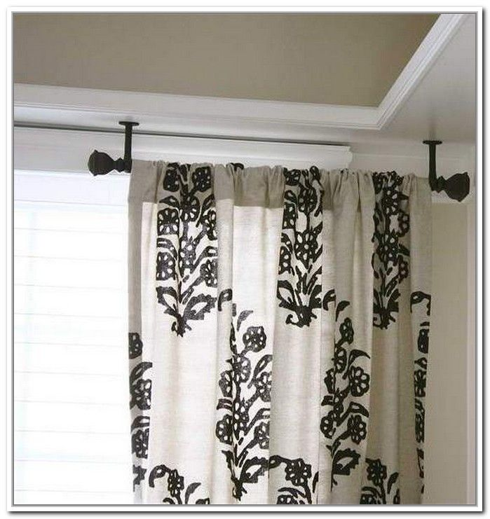 Use High Ceiling Mounted Curtain To Get That New Look At Home