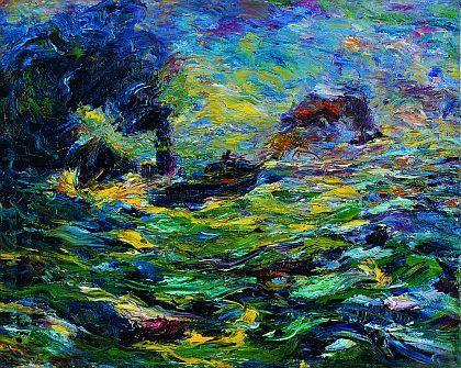 Emil Nolde 1910,Qualmende Dampfer