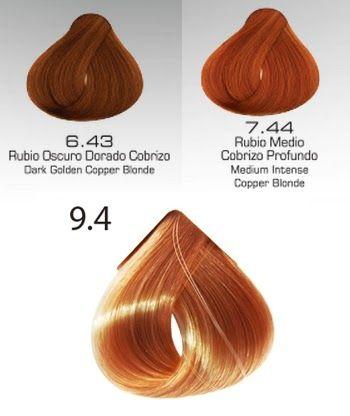 Color de pelo chocolate que numero es