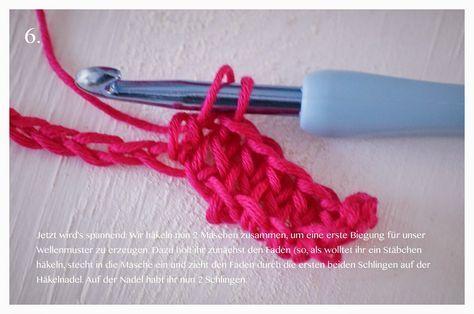 Anleitung fr eine Hkeldecke mit Wellenmuster Tutorial Crochet