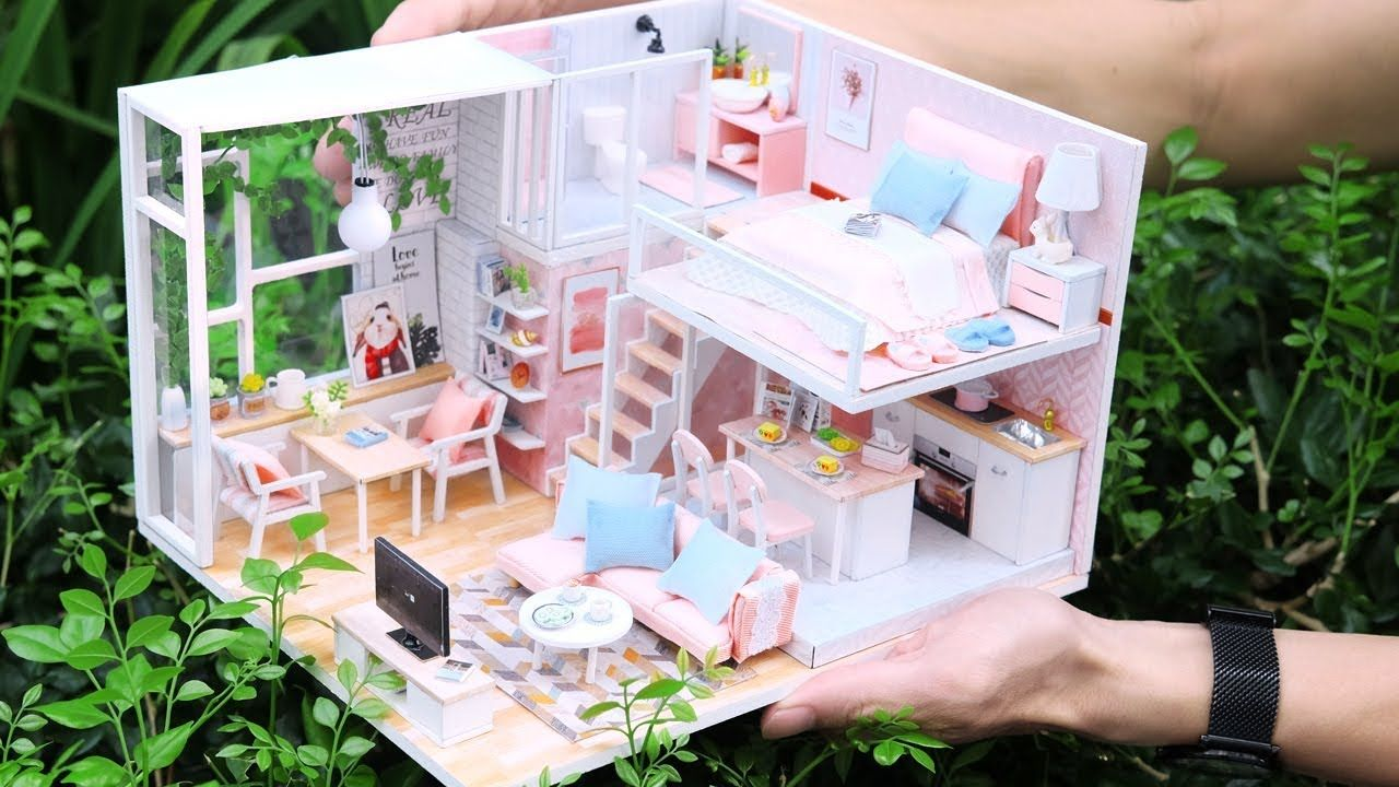 Diy Miniature Dollhouse Kit Tranquil Life With Full Furniture