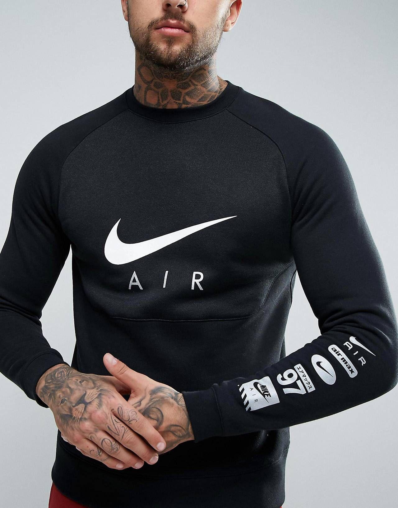Nike Air Sweat shirt imprimé color block Noir 832150 010