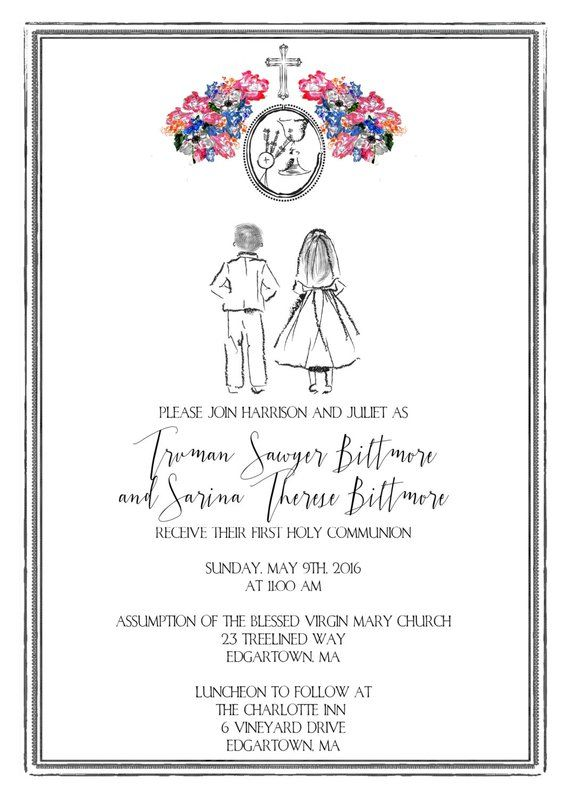 Printable First Communion Invitation