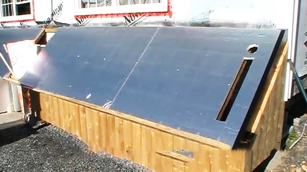 DIY Video: How to build a Homemade Solar Heat Pump System to heat your home through the winter |