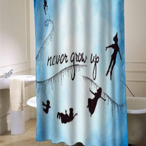 Peter Pan Nevergrowup Shower Curtain Best For Kids Bathrooms Find Now On Myshowercurtains