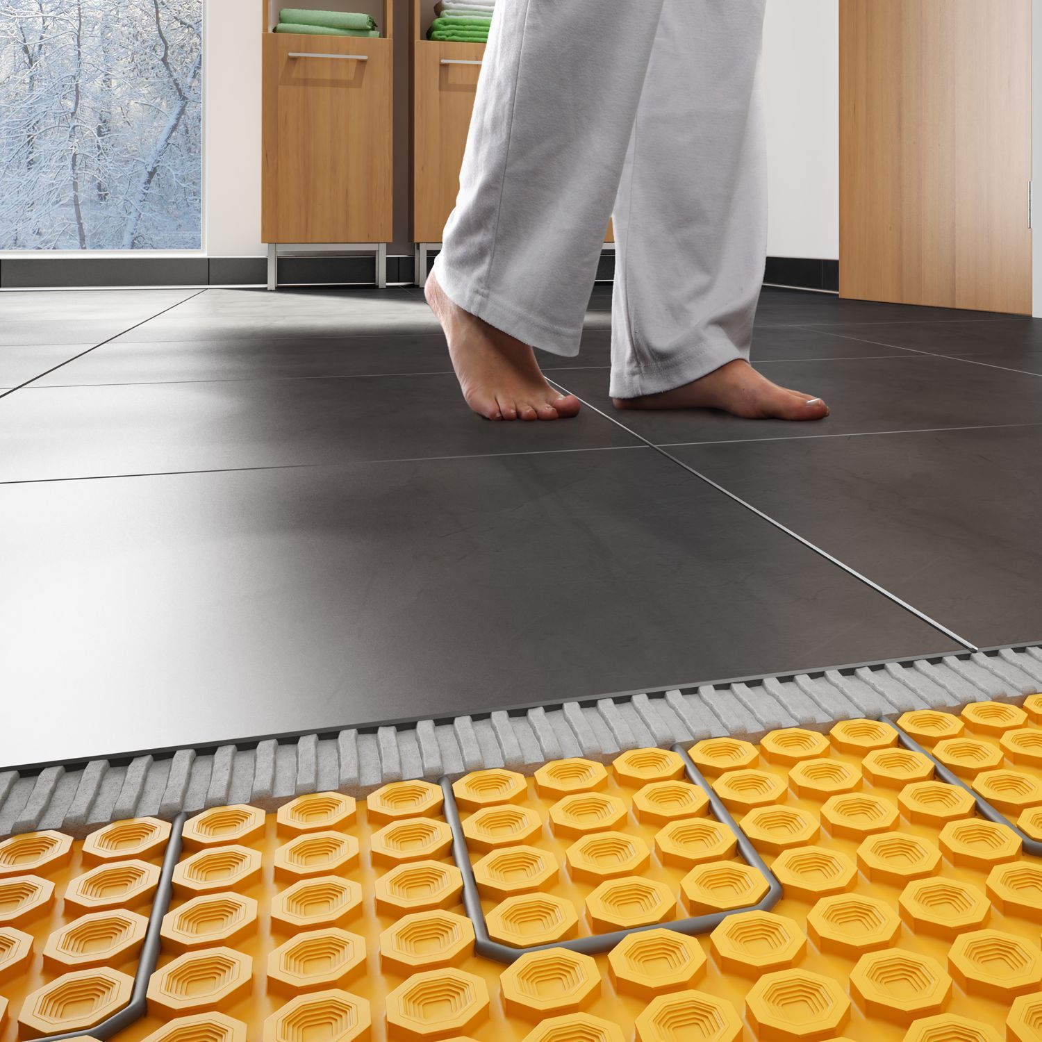 Combine The Beauty And Durability Of Tile With The Comfort