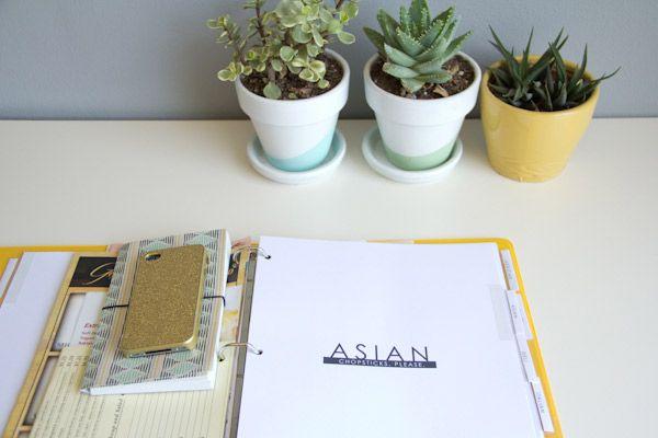DIY Printable Take-Out Menu Organizer @LovelyIndeed