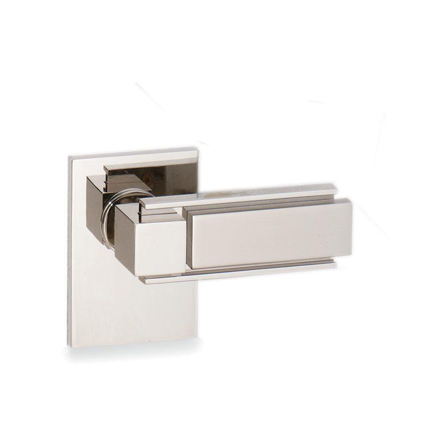 Sherle Wagner Apollo Door Lever In Polished Nickel