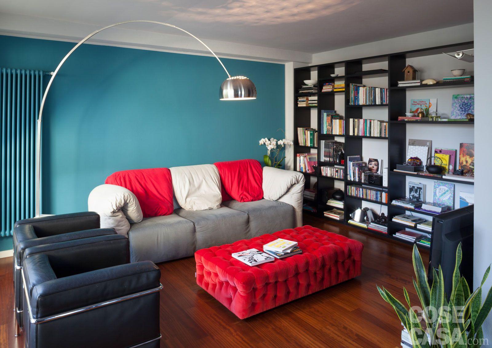 soggiorno blu e rosso - Cerca con Google | Idee per la casa ...