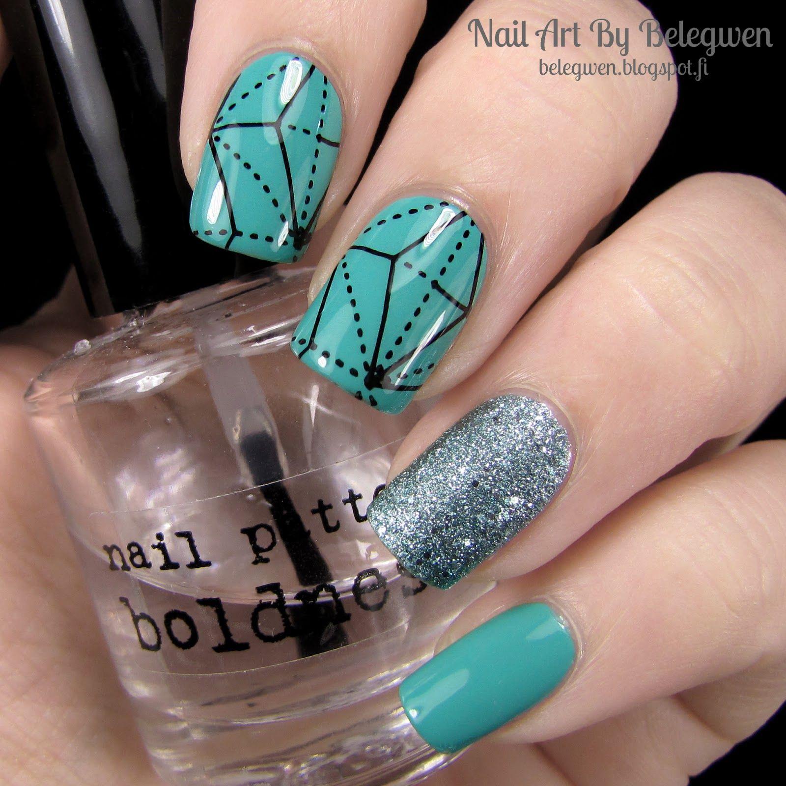 Nail Art by Belegwen: Depend nr. 54 and Jade Vine