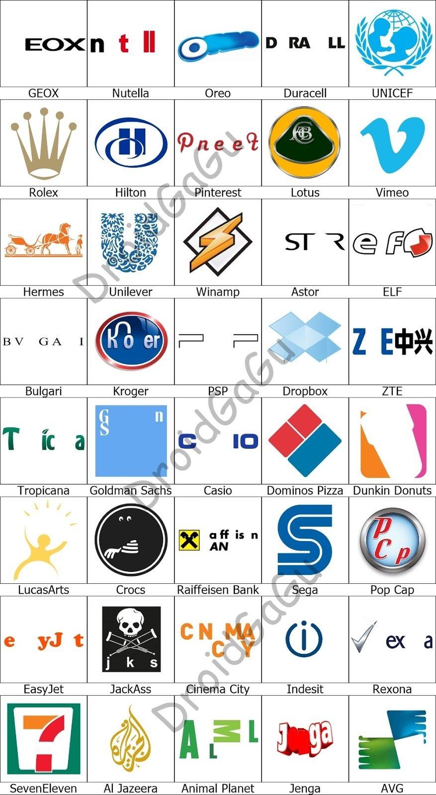 Logos Quiz Level 7 Answers - Logo Quiz Game Answers