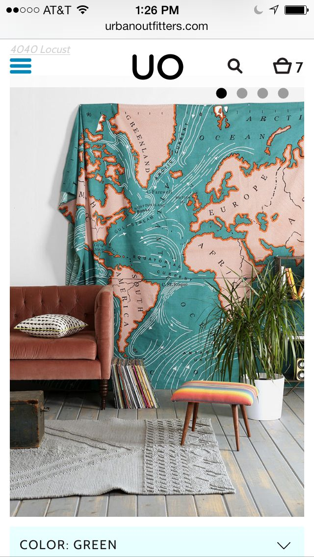 Map tapestry
