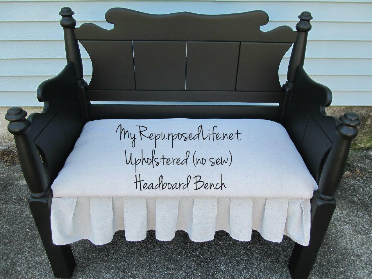 Repurposed chair ideas my repurposed life - Van Hoofdeinde Bed Naar Bank