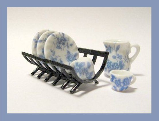 learn to make dollhouse accessories from found objects with Gosia Suchodolska dish rack of a hair curler