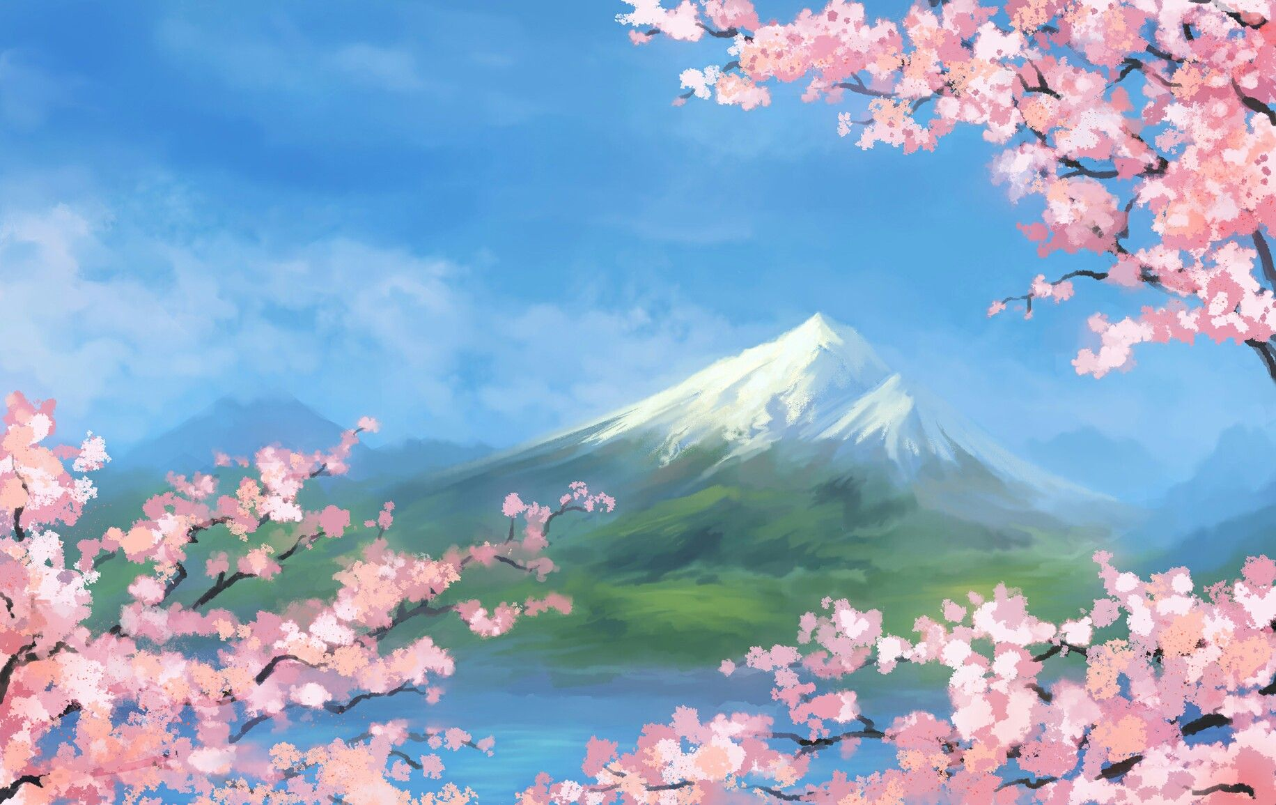 The Nature Of Anime Nature Anime Sky Wallpapers Kawaii View Kurdishotaku Image Art طبيعة خلفيات أ Nature Art Anime Art Beautiful Anime Wallpaper