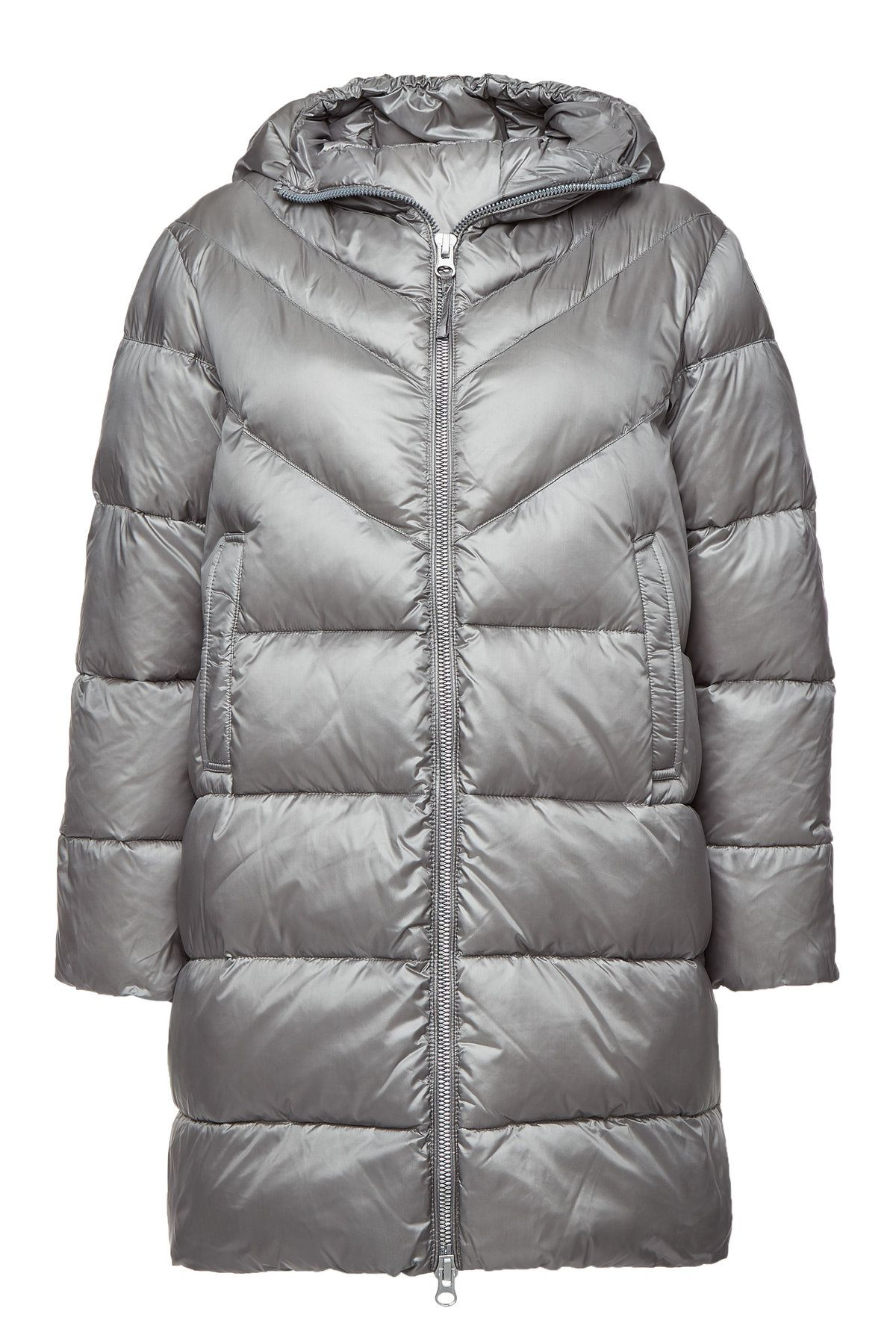 aaa743e4f7d Puffed up, padded and perfect for the colder months ahead, this glossy  silver Blauer coat is made with feathers and down for the most indulgent  feel and ...