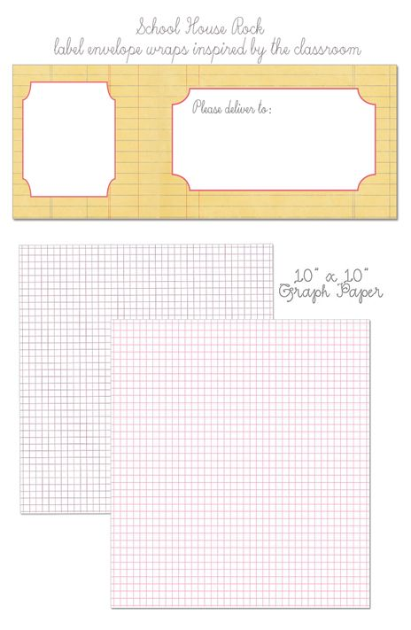 download these free school house inspired envelope wraps and oh so - graph papers
