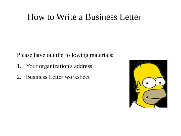 Business Letter Ppt Parts Powerpoint  Home Design Idea