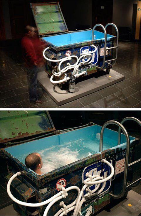 Dumpster Bathtub Design Diy Hot Tub