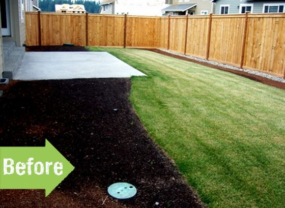 Before and after backyard hardscape landscape makeover for Garden design ideas before and after