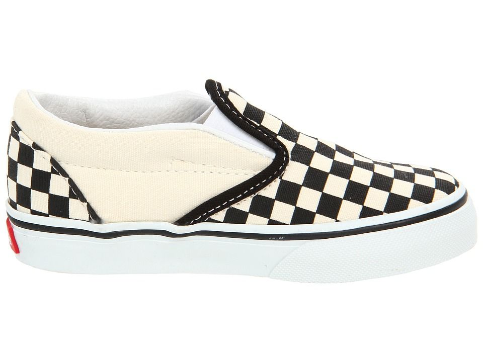 e78cdbca1d5 Vans Kids Classic Slip-On Core (Toddler) Kids Shoes Black and White  Checker White