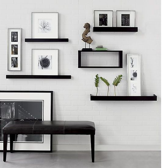 Archetype Espresso 3 Photo Ledge In Frames Ledges Crate And