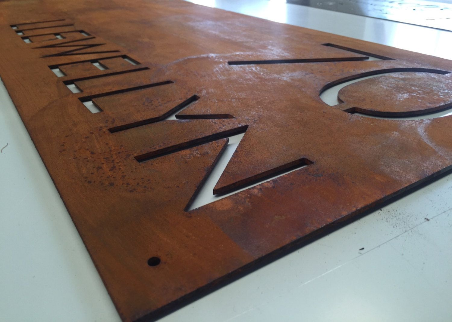 2ff06912c59 Corten (Rusted) Steel Custom Made Laser Cut House Signs Made to Order