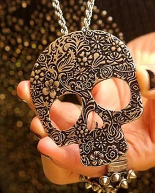 Hot Sale Great Gift European Vintage Silver Color Skeleton Shaped Necklace | eBay