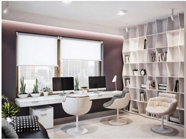 fresh clean workspace home. Clean Workspace With Really Cool Modern Bookshelves Fresh Home Y