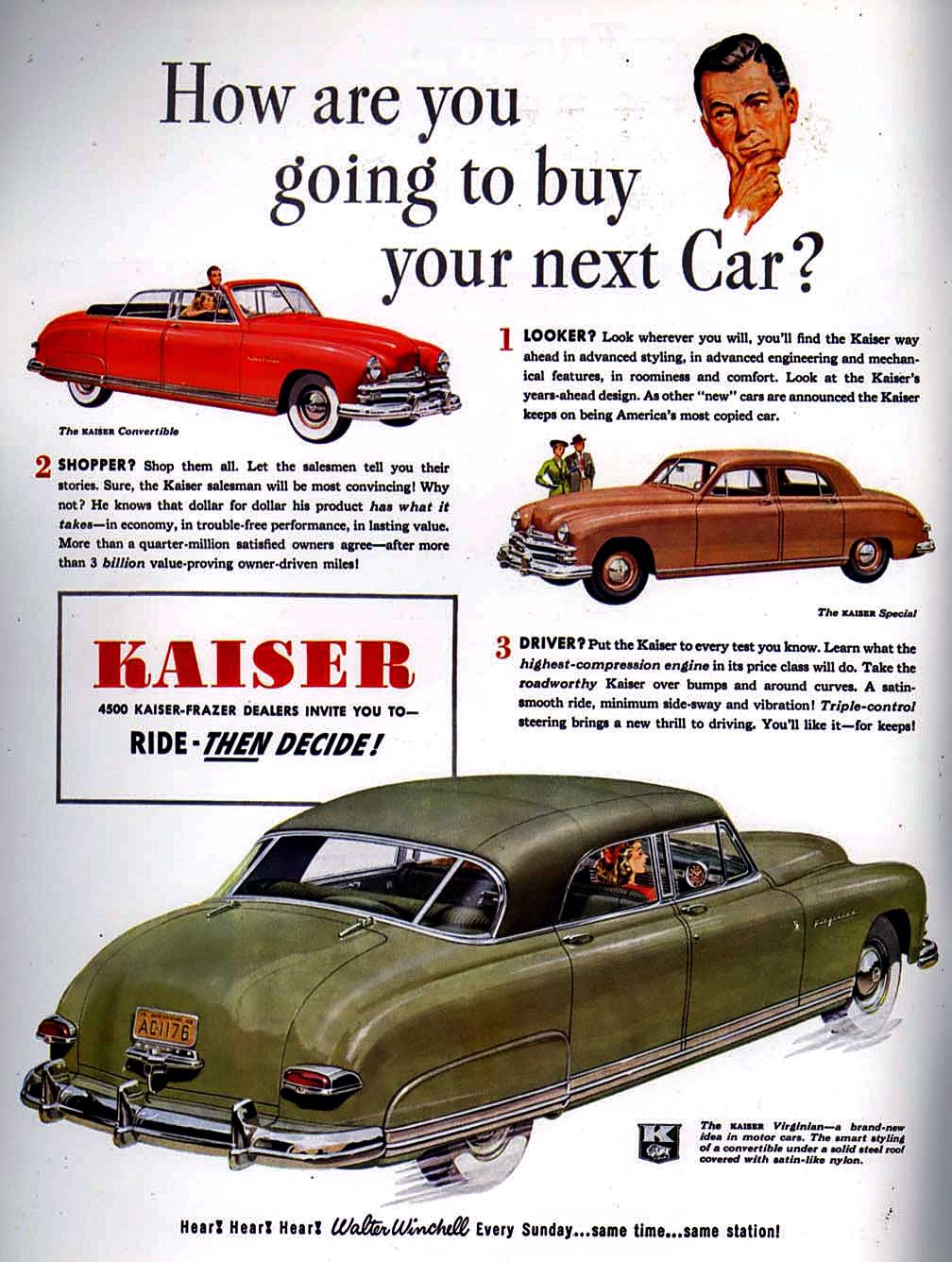 Ride THEN Decide: 1949 Kaiser.  ~~ Very cool...